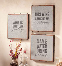 Wall Décor - Galvanized Wall Sayings Set of 3
