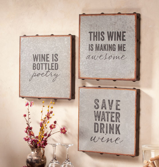 Galvanized Wall Sayings Set of 3