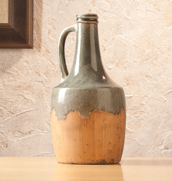 Large Blue Stone Ceramic Jug