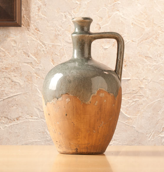 Small Blue Stone Ceramic Jug - View 1