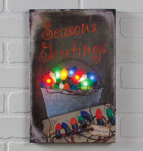 Wall Décor - Lighted Vintage Bulbs Canvas