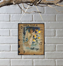 Wall Décor - Lighted Get Your Wings Canvas