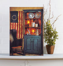 Home Décor - Lighted Americana Pride Canvas