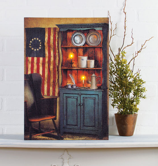 Lighted Americana Pride Canvas