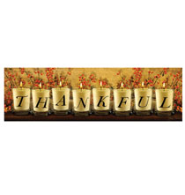 Holiday Décor - Lighted Thankful Canvas