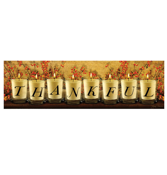 Lighted Thankful Canvas