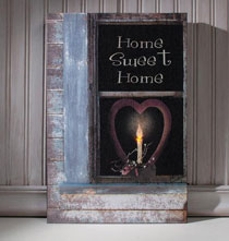 Wall Décor - Lighted Home Sweet Home Canvas