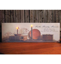 Wall Décor - Lighted Happy Life Foundation Canvas
