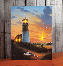Decorative Accents - Lighted Lighthouse Canvas