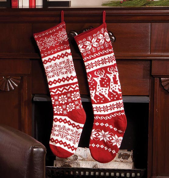 28 knit stockings - Large Christmas Stockings