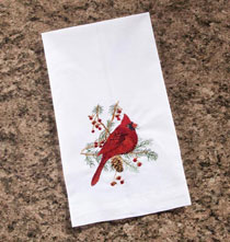 Miscellaneous Home Decor - Cardinal Guest Finger Towel