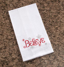 Holiday Décor - Believe Kitchen Towel