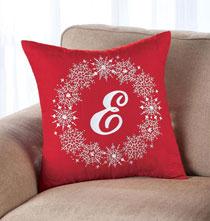Personalized Snowflake Throw Pillow 18x18