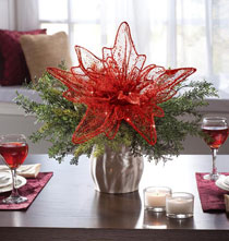 Holiday Décor - Large Red Poinsettia