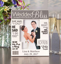 Wedding Gifts - Personalized Really Great News Wedding Frame