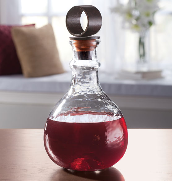 Glass and Iron Decanter