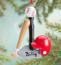 Holiday Ornaments - Personalized T-Ball Ornament