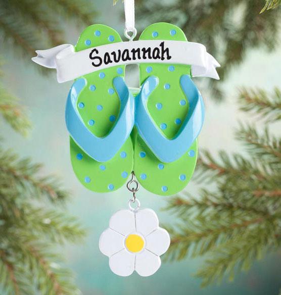 Personalized Flip-Flop Ornament