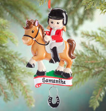 Holiday Ornaments - Personalized Horse Rider Ornament