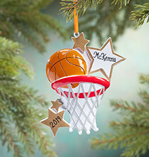 New - Personalized Basketball Star Ornament