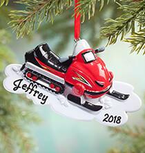 Personalized Snowmobile Ornament