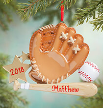 Baseball - Personalized Baseball Mitt Ornament