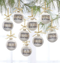 Holiday Ornaments - Greatest in the World Glass Ball Ornament