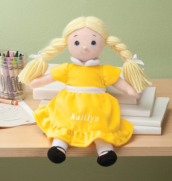 Personalized Little Sister Birthstone Doll - View 1