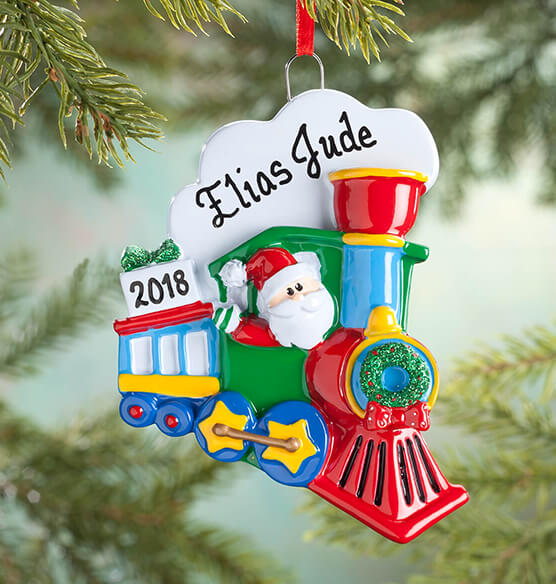 Personalized Santa Train Ornament