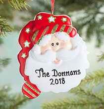 New - Personalized Christmas Santa Ornament