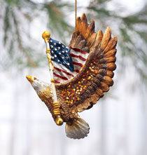 Gifts for Veteran's Day - Patriotic Eagle Ornament