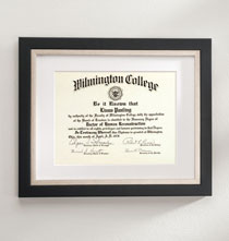 Gallery Frames - Taylor Conservation Document Frame Black with Brushed Nickel