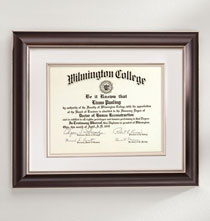Gallery Frames - Tuscan Conservation Document Frame Walnut
