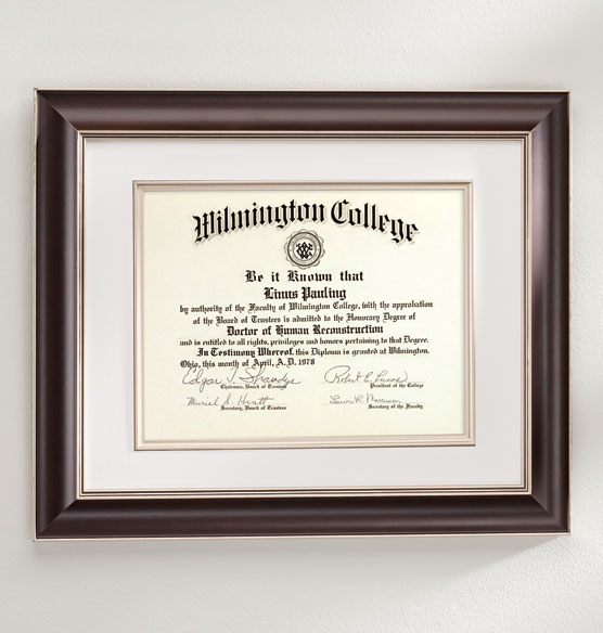 Tuscan Conservation Document Frame Walnut