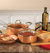Decorative Accents - Ceramic Non-Stick Pans Set