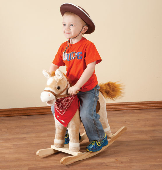 Personalized Animated Rocking Horse with Sound - View 1