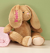 Toys - Personalized Brown Plush Bunny