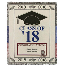 Pillows, Blankets & Throws - Personalized 2018 Graduation Afghan