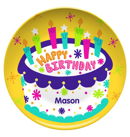 Personalized Happy Birthday Plate