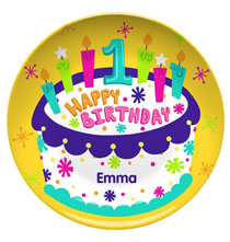 Keepsakes - Personalized Happy 1st Birthday Plate