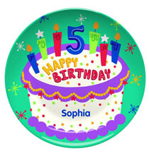 New - Personalized Happy 5th Birthday Plate