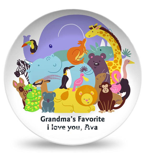 Personalized Trip to the Zoo Plate