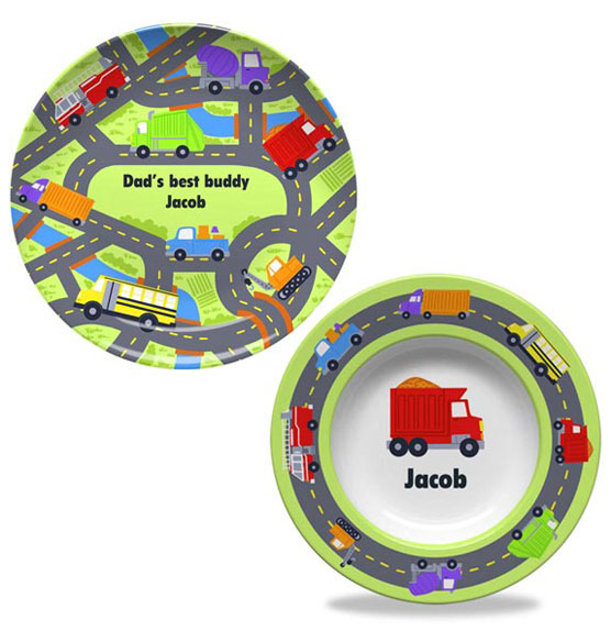 Personalized Road Trip Plate & Bowl Set