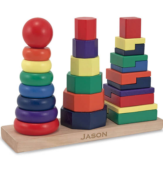 Melissa & Doug® Personalized Geometric Stacker