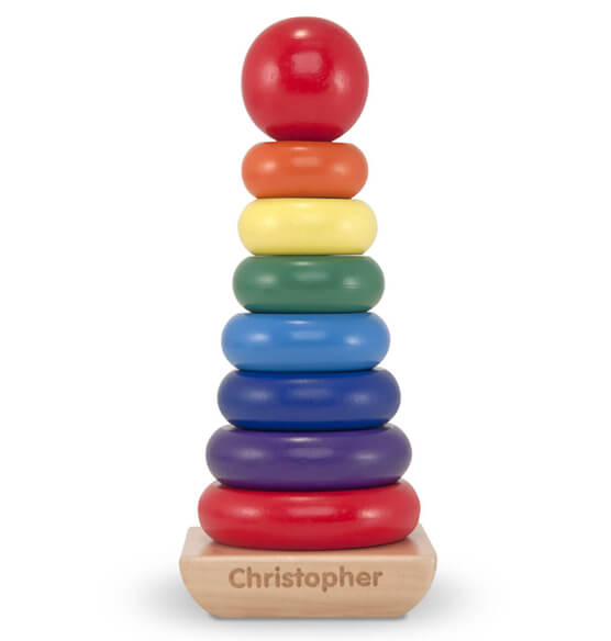 Melissa & Doug® Personalized Rainbow Stacker - View 1