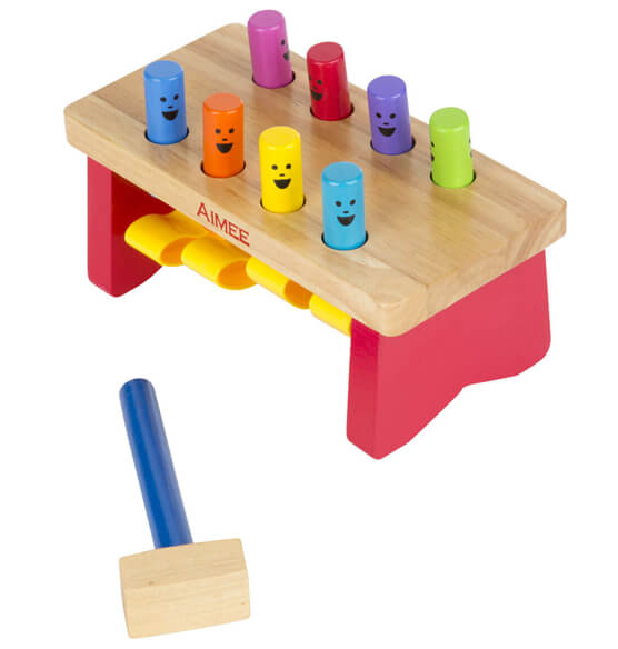 Melissa & Doug® Personalized Deluxe Pounding Bench - View 1