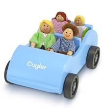 Melissa & Doug® Personalized Wooden Car & Passengers