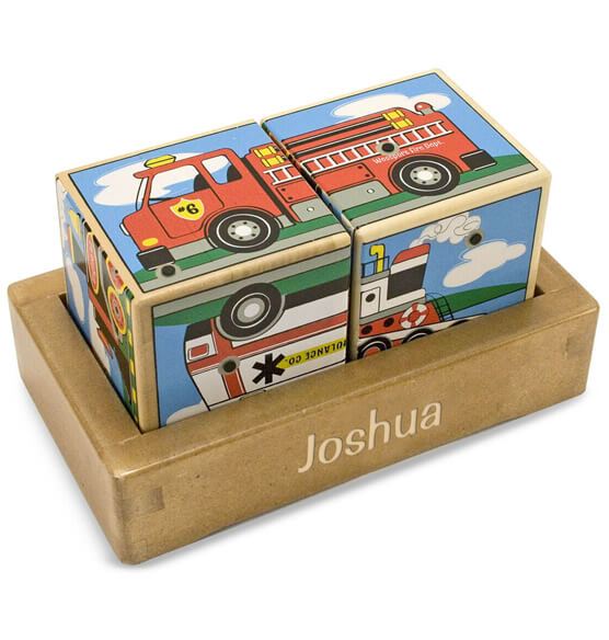 Melissa & Doug® Personalized Vehicles Sound Blocks - View 1