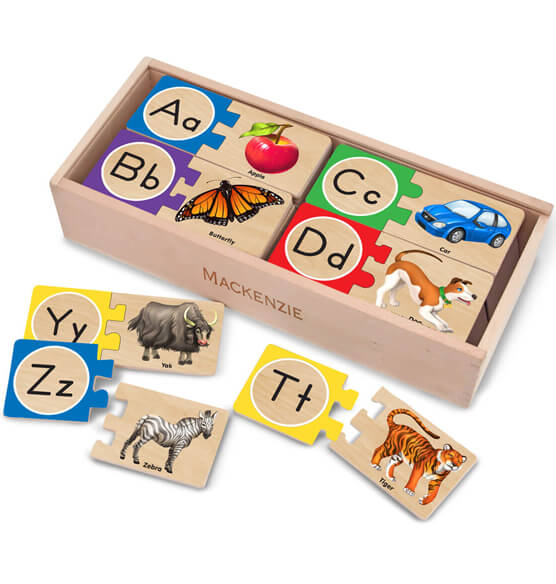 Melissa & Doug® Personalized Letter Puzzles - View 1