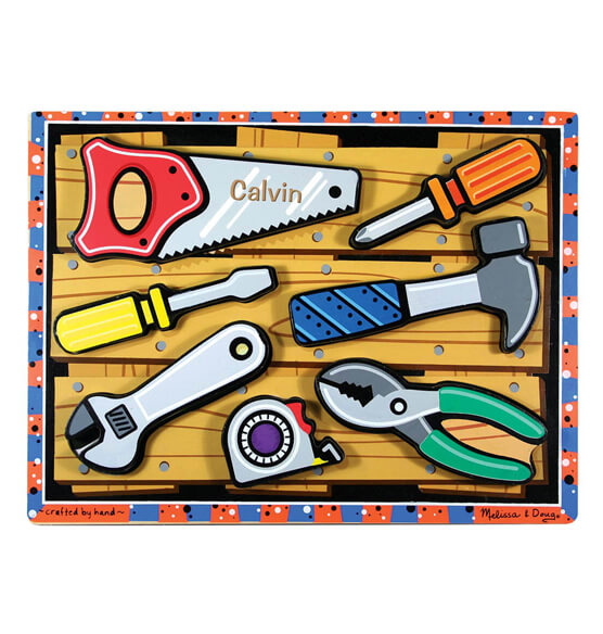 Melissa & Doug® Personalized Tools Chunky Puzzle - View 1